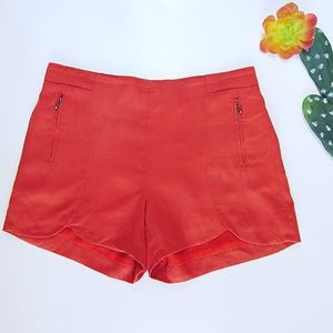 Orange Cartonnier Anthropology Tulip Shorts Size S